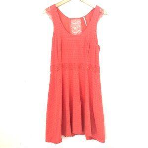 Free People Sleeveless Coral Red Mini Dress
